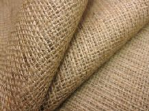 "10 mt of Natural hessian jute sack fabric 40""w  upholstery or garden use"